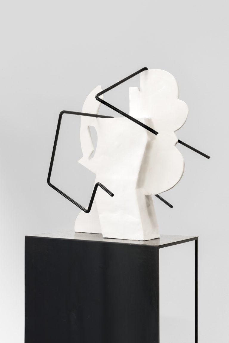 Sanne Mestrom, 'Dear Charlie', 2015; Ceramic (ft. Charlie Sofo's steel pole) 186 x 60 x 70 cm